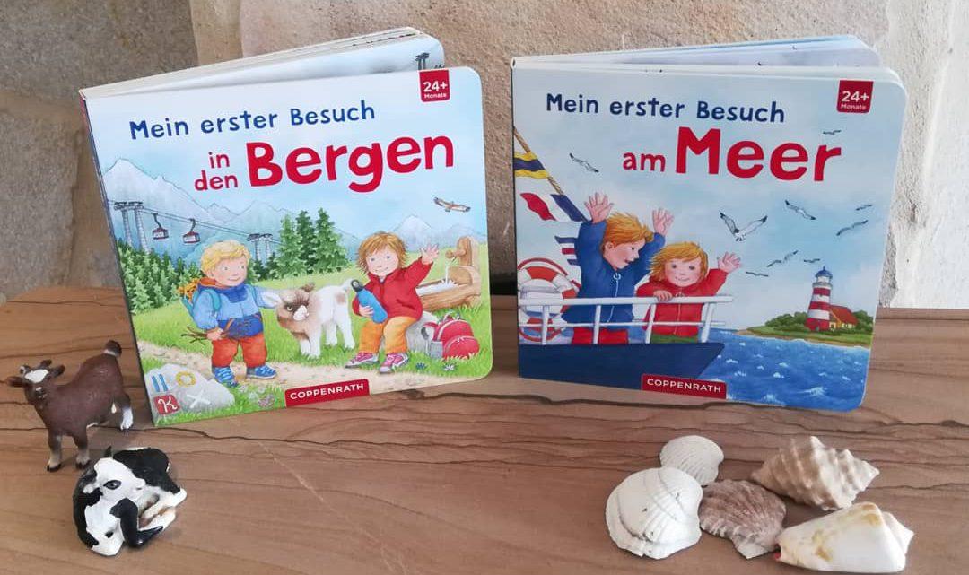 """Kinderbücher für den Urlaub 1: """"Mein erster Besuch in den Bergen""""/""""Mein erster Besuch am Meer"""" – B. Jelenkovic"""