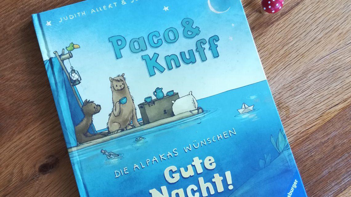 """Ein wunderschönes Einschlafbuch: """"Paco & Knuff. Die Alpakas wünschen Gute Nacht!"""" – Judith Allert, Joelle Tourlonias"""