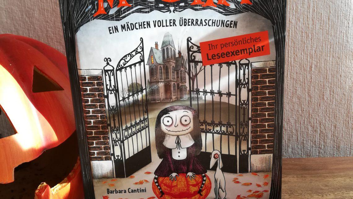 """Kinderbücher zu Halloween: """"Mortina. Ein Mädchen voller Überraschungen"""" –  Barbara Cantini"""