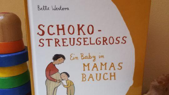 """Aufklärung für Kinder: """"Schokostreuselgross. Ein Baby in Mamas Bauch"""" – Bette Westera, Julia Dürr"""