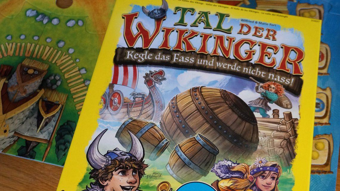 """Kinderspiel des Jahres 2019 von Haba: """"Tal der Wikinger. Kegle das Fass und werde nicht nass"""""""