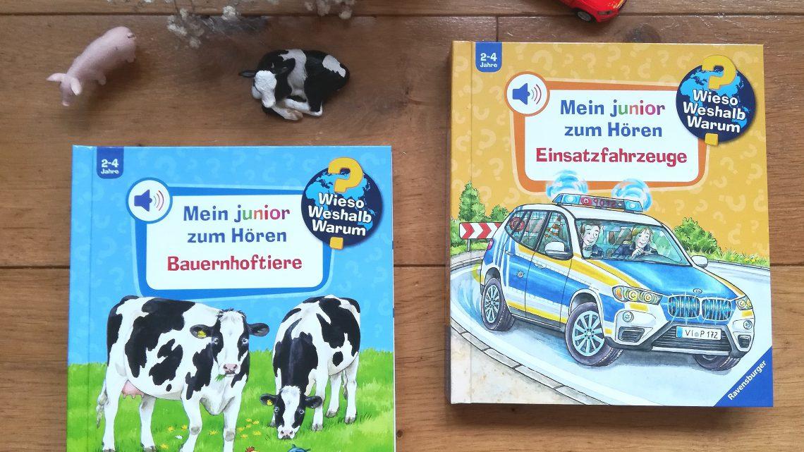 """Mein """"Wieso Weshalb Warum- Junior"""" zum Hören: Bauernhoftiere und Einsatzfahrzeuge"""