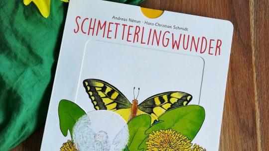 """Ein wunderschönes Frühlingsbuch für die Kleinen: """"Schmetterlingwunder"""" – A. Német, H. Schmidt"""