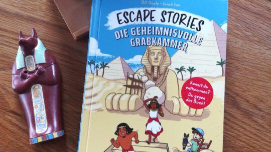"""Spannende Rätsel für Kinder – """"Escape Stories. Die geheimnisvolle Grabkammer"""""""