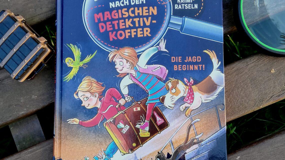 """""""Die Jagd nach dem magischen Detektivkoffer. Die Jagd beginnt!"""" – Cally Strong, Patrick Fix"""