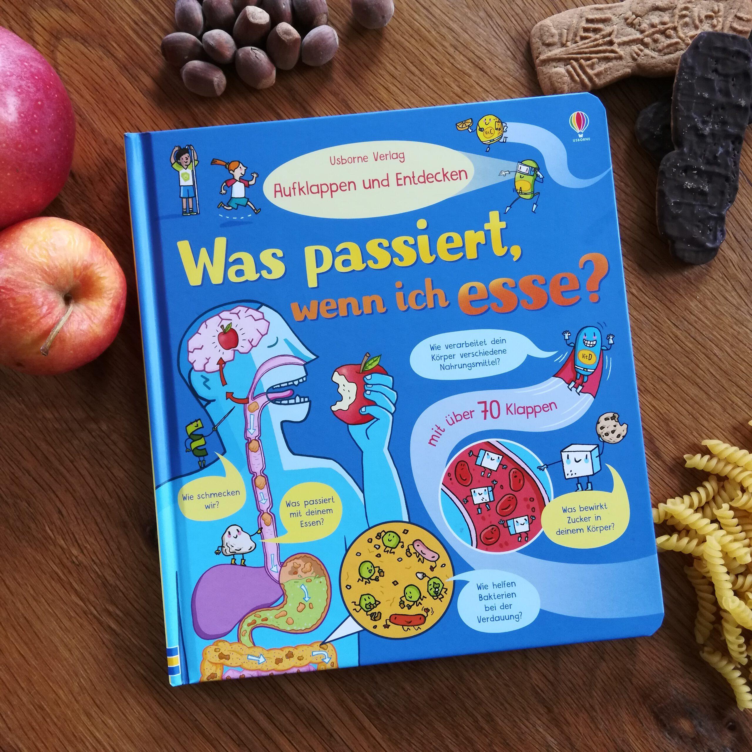 """""""Was passiert, wenn ich esse?"""" – Usborne Verlag Aufklappen und Entdecken"""