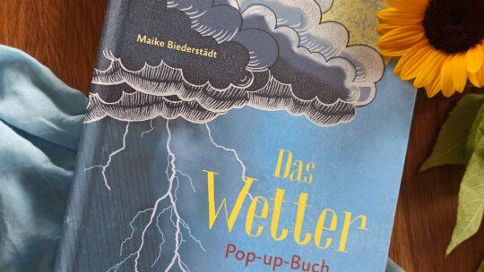 """""""Das Wetter Pop- up- Buch. Wie Stürme, Regen, Kälte und Hitze entstehen"""" – Maike Biederstädt"""